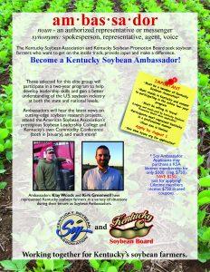 2018-20 Ky Soybean Ambassador flyer