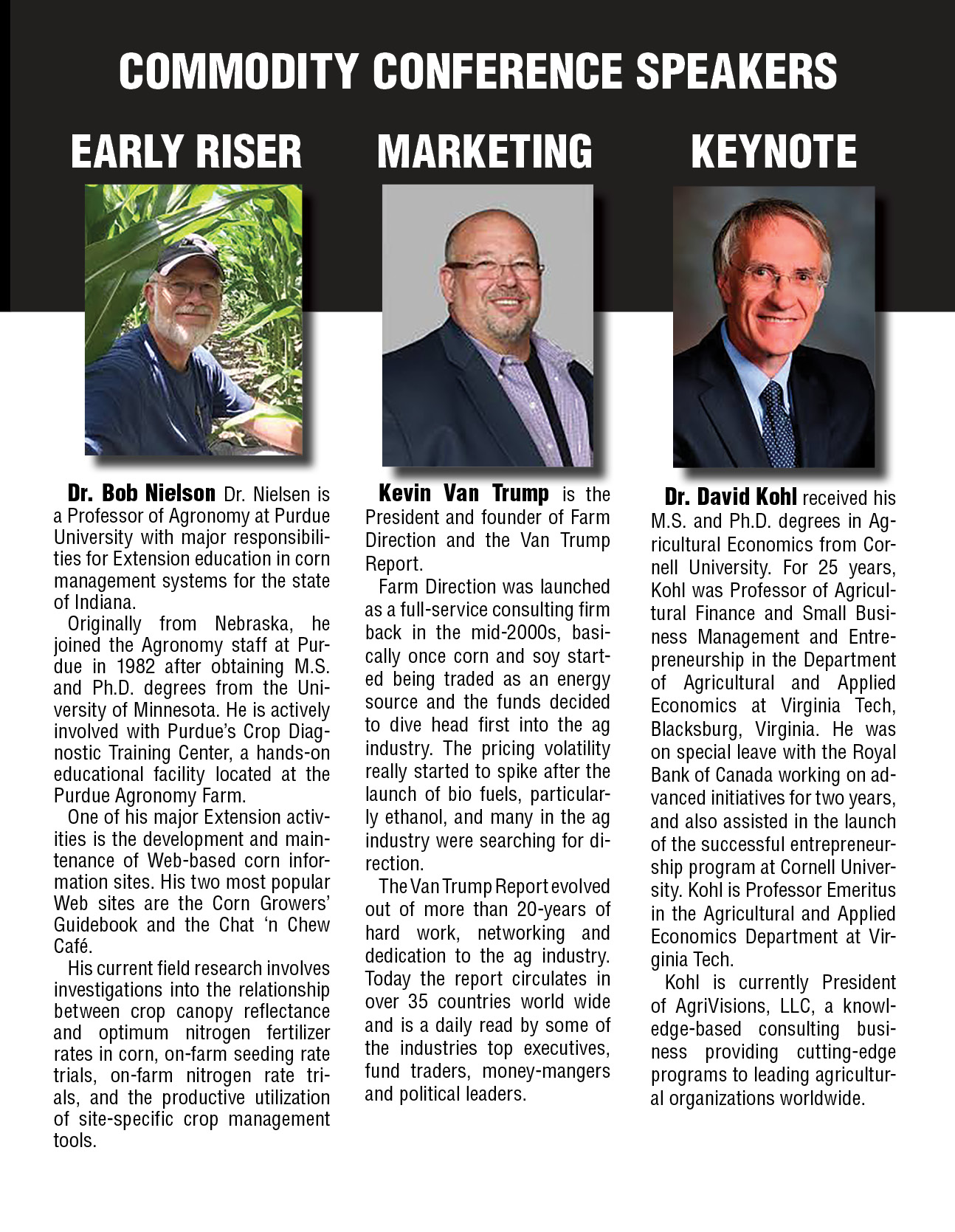 2019 Commodity Conference Speakers