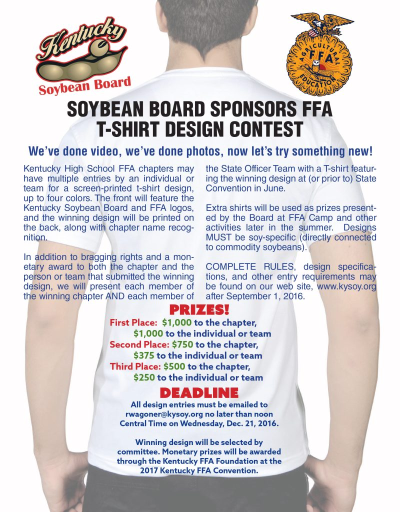 Kentucky Soybean Board FFA T-shirt Design Contest