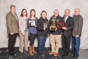 The 2017 Crop Production Contest Winners Awards Banquet was held at the University Plaza Holiday Inn in Bowling, Green Kentucky on January 18, 2018.